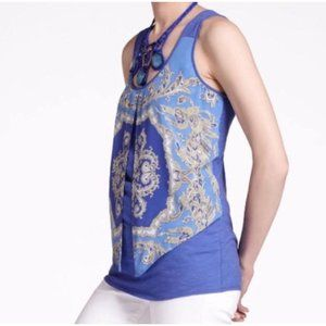 Anthropologie Leifnotes Parted Paisley Tank Top